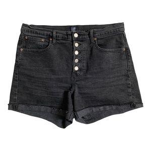 Gap Womens Jean Shorts Size 31 Cut Offs Black